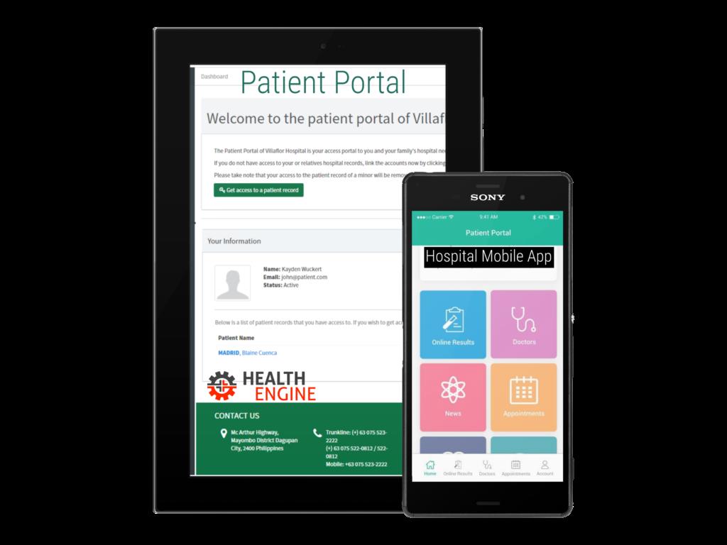 Health Engine Patient Portal Mobile App