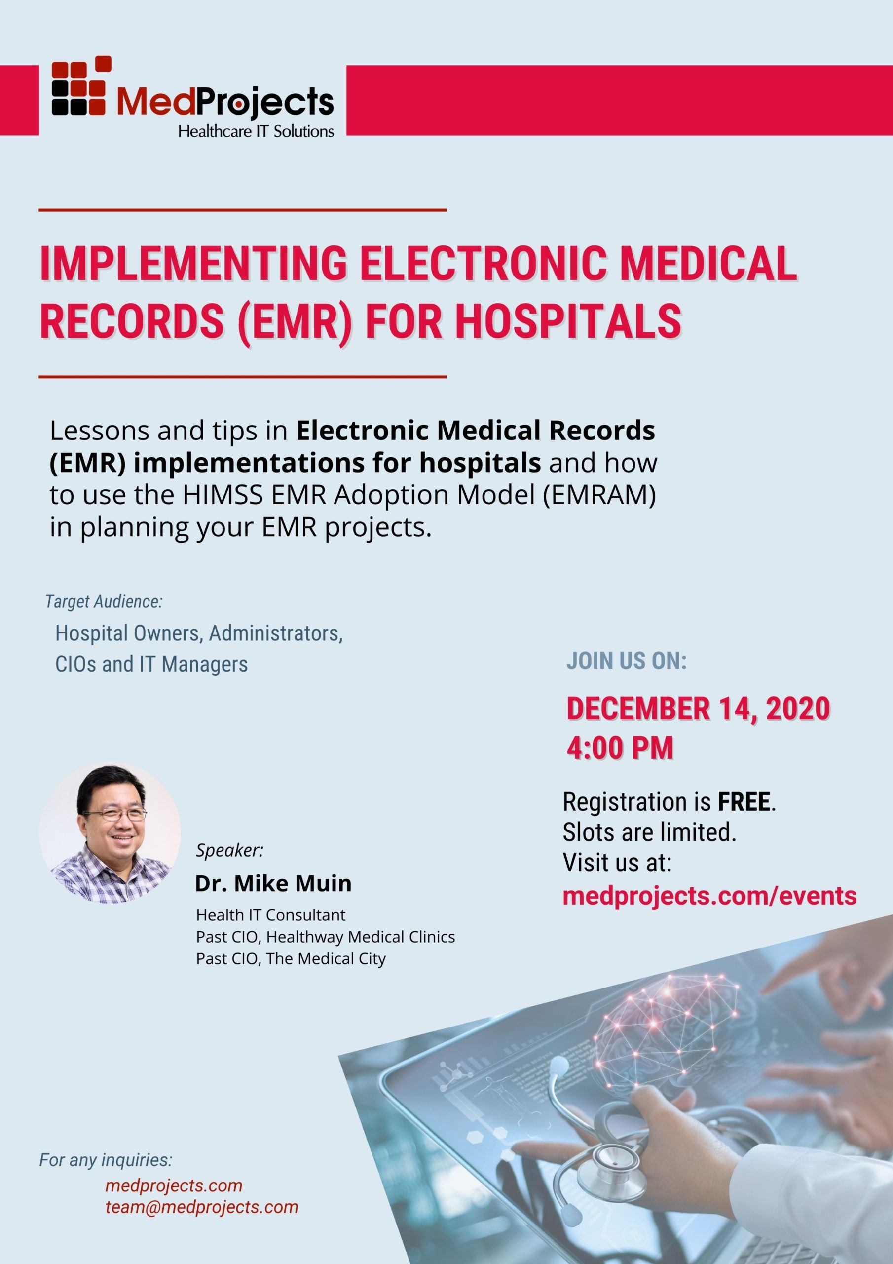 Implementing Electronic Medical Records (EMR) For Hospitals